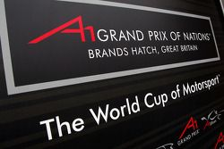 Spandoek voor de A1GP Grand Prix of Nations