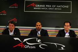 Persconferentie: Sheikh Maktoum Hasher Maktoum Al Maktoum, President A1 Grand Prix