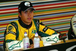 Post-qualifying persconferentie: polesitter Nelson A. Piquet