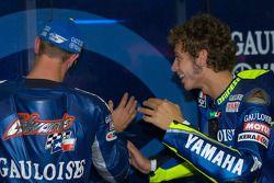 Colin Edwards y Valentino Rossi