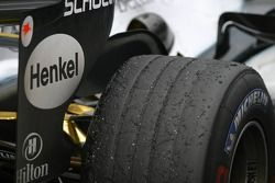 Tire on the McLaren