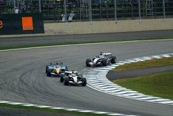 Juan Pablo Montoya, Fernando Alonso and Kimi Raikkonen