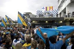 Podium: 1. Juan Pablo Montoya, McLaren; 2. Kimi Räikkönen, Mclaren; 3. Fernando Alonso, Renault