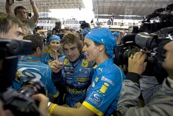 2005 World Champion Fernando Alonso celebrates