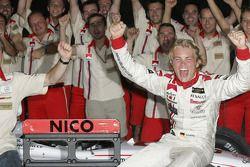 Campeón GP2 Series 2005 Nico Rosberg celebra