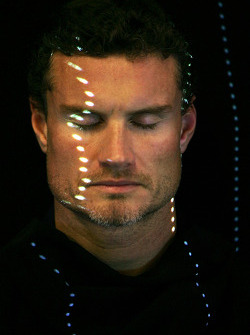 David Coulthard is scanned for the new Sony Playstation F1 sim