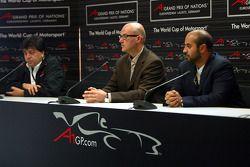 Press conference: Tony Teixeira, CEO A1 Grand Prix, Hans-Joerg Fischer, CEO EuroSpeedway Lausitz and Sheikh Maktoum Hasher Maktoum Al Maktoum, President of A1 Grand Prix