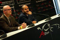Press conference: Hans-Joerg Fischer, CEO EuroSpeedway Lausitz and Sheikh Maktoum Hasher Maktoum Al Maktoum, President of A1 Grand Prix