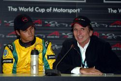 Press conference: Nelson A. Piquet and Emerson Fittipaldi