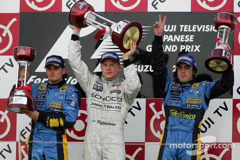 23- Fernando Alonso, 3º en el GP de Japón 2005 con Renault