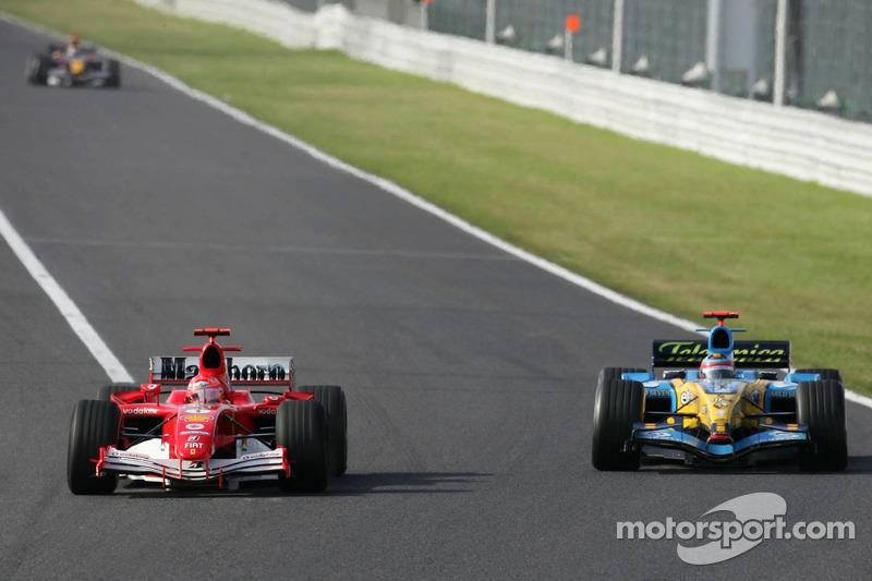 Batalla de Michael Schumacher y Fernando Alonso