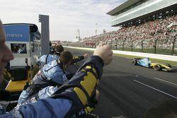 Giancarlo Fisichella finisht als tweede