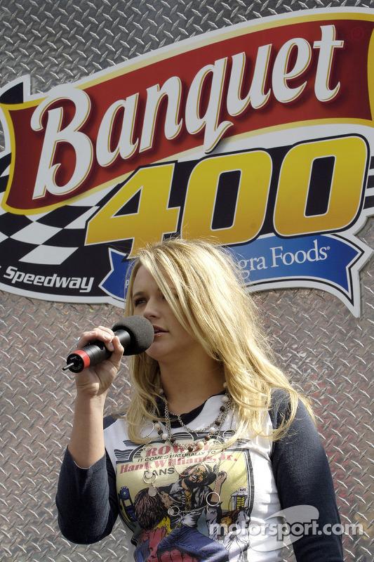 Recording artist Miranda Lambert performs National Anthem