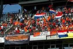 Fans van Jos Verstappen