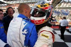 Race winner Nicolas Lapierre celebrates