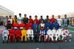 Family picture for the 2005 A1GP drivers