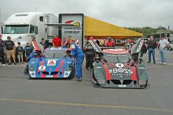 Nos. 2, 4 in the paddock