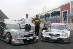 DTM presentation at Istanbul Otodrom: Frank Stippler, Manuel Reuter and Jean Alesi