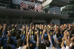 Fernando Alonso sur le podium