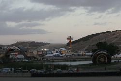 The sun falls on Laguna Seca