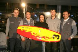 Прощальный подарок для Лорана Аелло от команды Audi Sport Team Abt