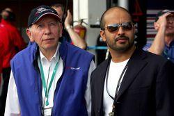 John Surtees and Sheikh Maktoum Hasher Maktoum Al Maktoum