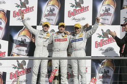 Podium: race winner Bernd Schneider with Jamie Green and Gary Paffett