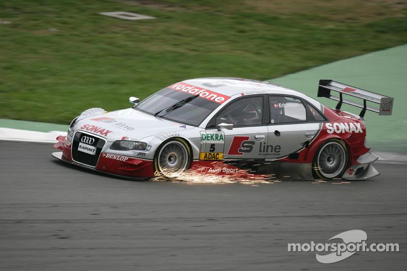 Funkenflug: Tom Kristensen, Audi Sport Team Abt Sportsline, Audi A4 DTM 2005