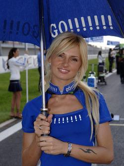 A lovely Gauloises umbrella girl