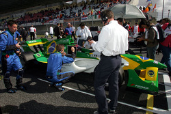Nelson A. Piquet on the starting grid
