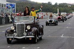 Drivers parade: Nelson A. Piquet