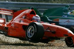 Jos Verstappen after his crash with Adrian Sutil