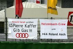 Fan flags for Pierre Kaffer