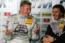 Mika Hakkinen and Laurent Aiello