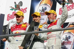 Championship podium: DTM 2005 champion Gary Paffett with Mattias Ekström and Tom Kristensen