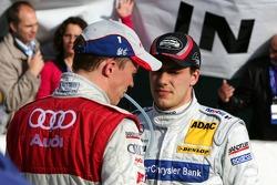 DTM 2005 champion Gary Paffett celebrates with Mattias Ekström