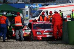 The crash of Heinz-Harald Frentzen