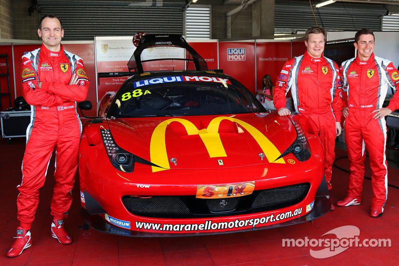 #88 马拉内罗车队,法拉利F458 Italia GT3: Mika Salo, Ben Collins, Tony D'Alberto