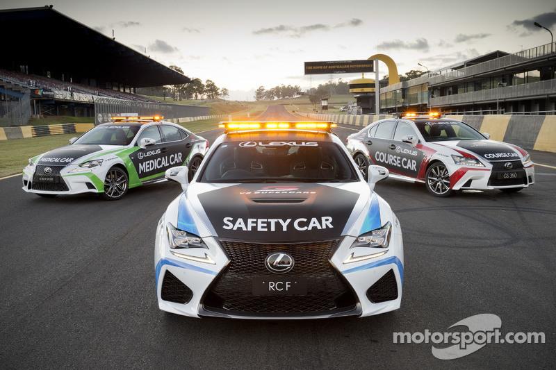 Die neuen Lexus RC F Sicherheitsfahrzeuge