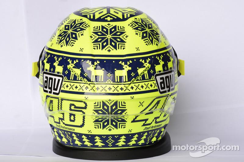 Casco de Valentino Rossi, de Yamaha Factory Racing