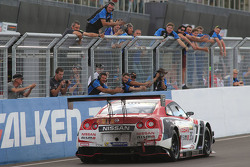 #35 NISMO Athlete Global Team Nissan GT-R NISMO GT3: Florian Strauss, Katsumasa Chiyo, Wolfgang Reip takes the win