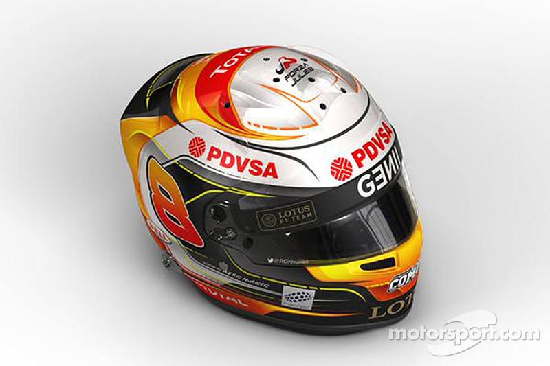 Romain Grosjean's Jules Bianchi tribute helmet