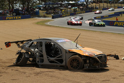#91 MARC Cars Australia Mazda 3 V8: Keith Kassulke, Jake Camalleri, Ivo Breukers in huge crash