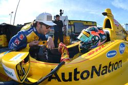 Marco Andretti en Ryan Hunter-Reay