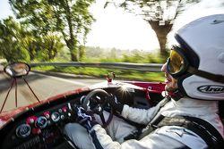 Daniel Ricciardo drives an Alfa Romeo 33 T3 on the old Targa Florio circuit