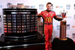 Jamie McMurray, Ganassi Racing Chevrolet with the Rolex 24 and Daytona 500 trophies