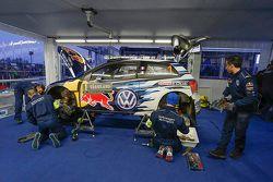 Volkswagen Polo R WRC servis alanında