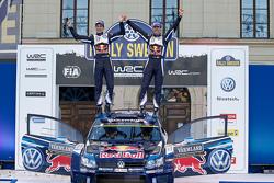 First place Себастьєн Ожьє та Жюльєн Інграссія, Volkswagen Polo WRC, Volkswagen Motorsport