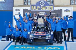 First place Sebastien Ogier and Julien Ingrassia, Volkswagen Polo WRC, Volkswagen Motorsport