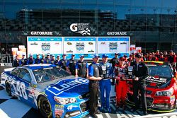 Pole Jeff Gordon, Hendrick Motorsports Chevrolet, segundo lugar Jimmie Johnson, Hendrick Motorsports